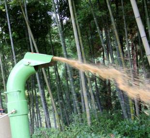 噴射口の向きが上下左右に変えられる。