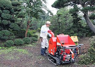 吉田さんは、敷地内で粉砕機を利用するそうです